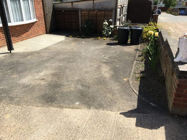 Old Worn Driveway - before